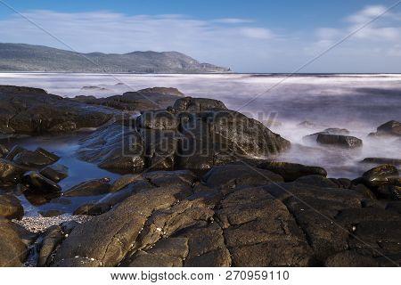 View Of Cloudy Bay In Bruny Island, Tasmania, Australia.