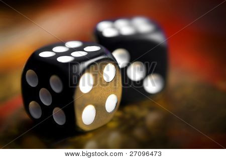 dice on a soft background color