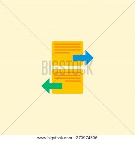 Arrange Task Icon Flat Element.  Illustration Of Arrange Task Icon Flat Isolated On Clean Background