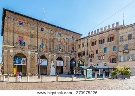View At The City Hall Building Of Parma In Italy