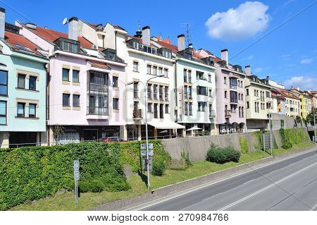 Slovakia. Buildings In The Old Town Of Bratislava
