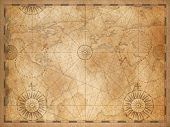 old medieval nautical vintage world map poster