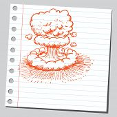 Scribble nuclear explosion poster