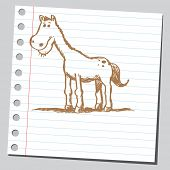 Scribble horse poster