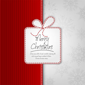 Elegant Christmas Background With Gift Box