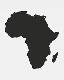 Map Of The Africa Isolated On A White Background. Africa Background. African Map. Vector Illustratio