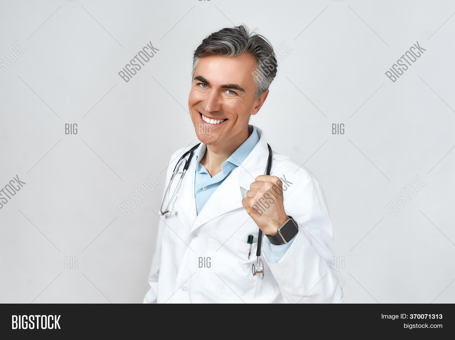 Excited Smiling Male Image Photo Free Trial Bigstock