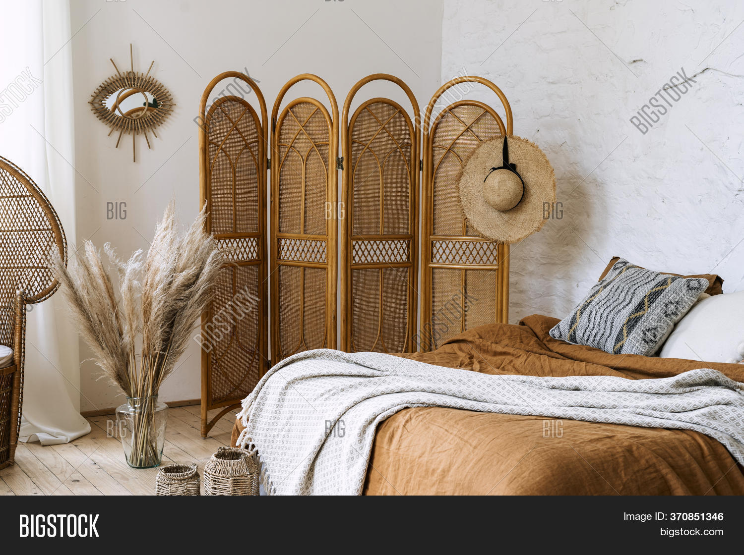 Comfort Bedroom Boho Image Photo Free Trial Bigstock