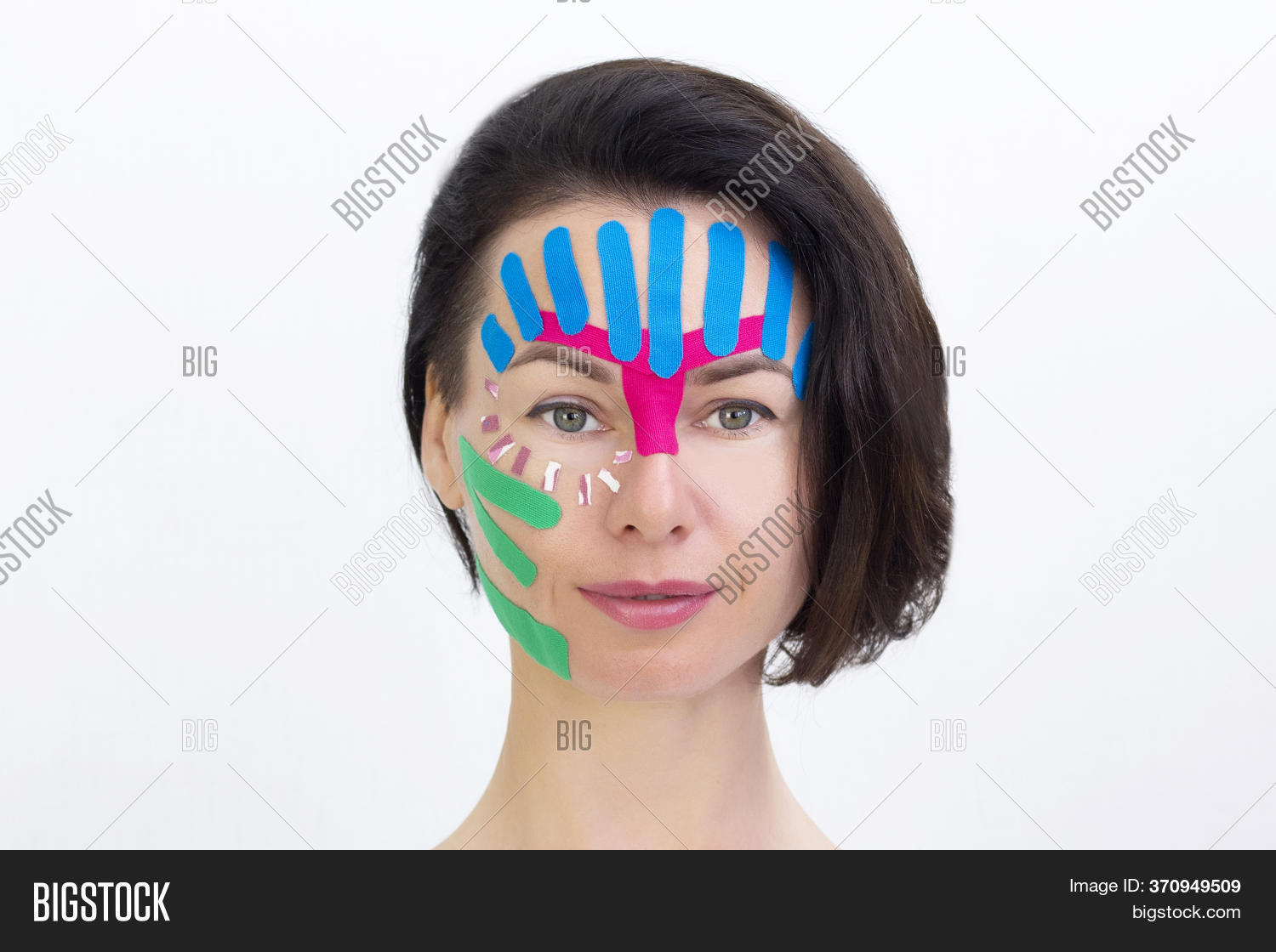 Face Taping Close Image Photo Free Trial Bigstock