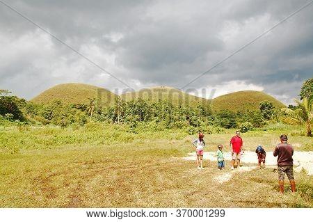 Bohol, Ph - Sept 1 - Chocolate Hills Landscape View On September 1, 2015 In Carmen, Bohol, Philippin