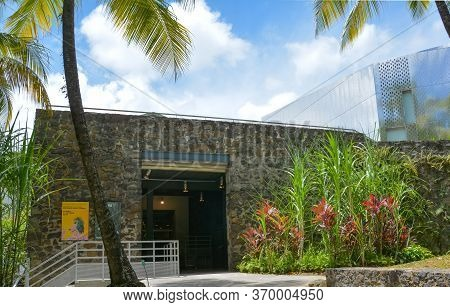 Le Francois, Martinique, West Indies - September18, 2018: Building Of Museum And Rum Factory With Pa