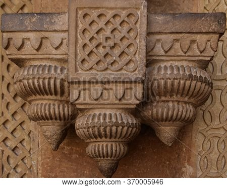 Gwalior, Madhya Pradesh/india - March 15, 2020 : Interior Of Walls At Gwalior Fort