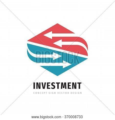Investment Business Logo Design. Marketing Trading Finance Logo Sign. Arrows Concept Logo Symbol. Al