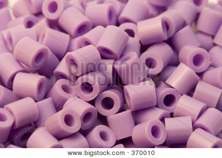 Purple Plastic Beads