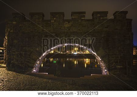 Maastricht (the Netherlands) By Night, Nightphotography. Old Water Gate.