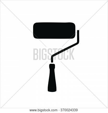 Paint Roller Icon Isolated On White Background. Paint Roller Icon In Trendy Design Style.