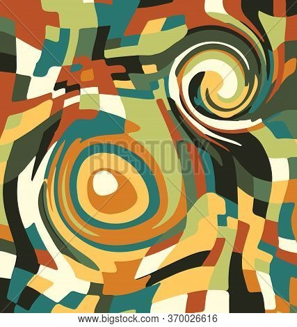 Vector Background Image Abstract Ornament Circles Green And Brown