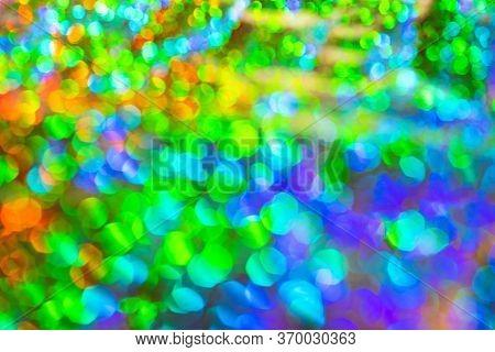Christmas Lights Defocused Background. Bokeh. Colorful Defocused Lights Collection, Background.