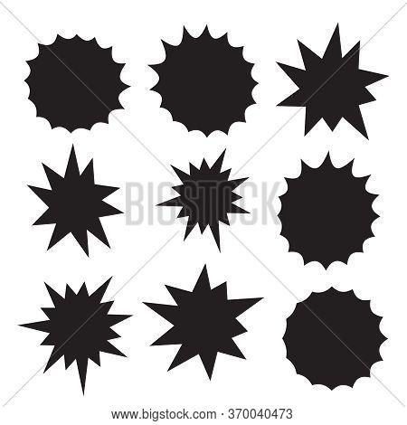Starburst Sticker Vintage Vector Label. Starburst Icon. Vector Icon. Starburst Shape Sale Tag.