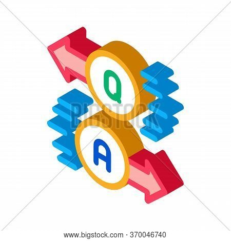 Question Answer Icon Vector. Isometric Question Answer Sign. Color Isolated Symbol Illustration