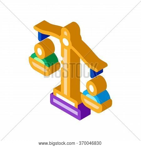 Employment Scales Of Justice Icon Vector. Isometric Employment Scales Of Justice Sign. Color Isolate