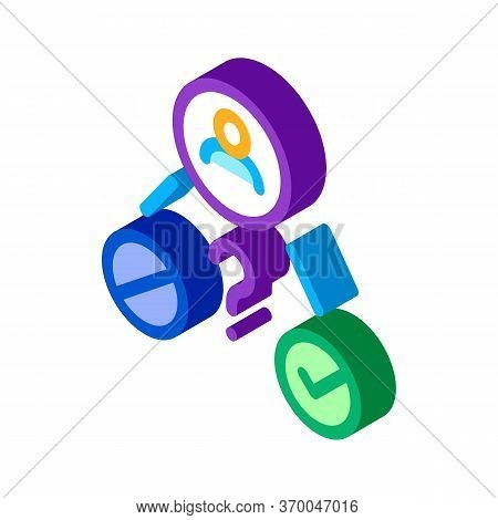 Uncertain State Of Man Icon Vector. Isometric Uncertain State Of Man Sign. Color Isolated Symbol Ill