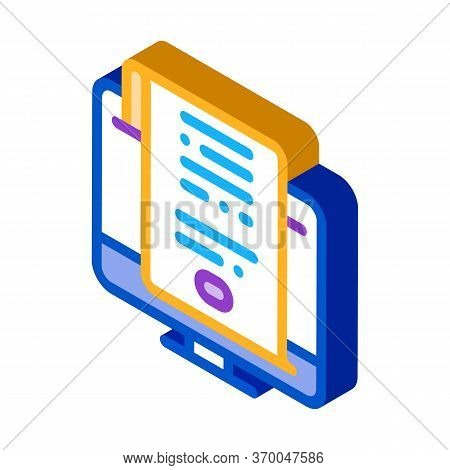 Search Engine Optimization Document Icon Vector. Isometric Search Engine Optimization Document Sign.