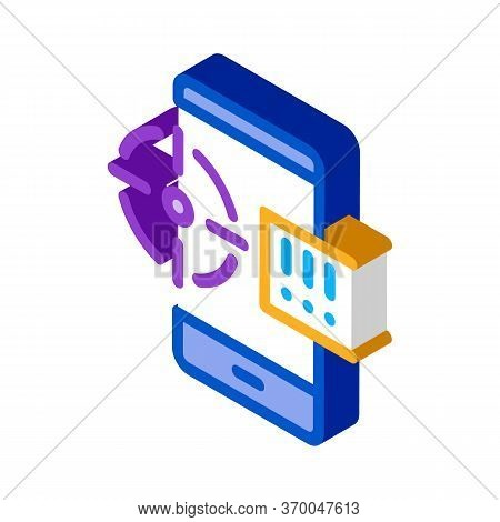 Location Search Icon Vector. Isometric Location Search Sign. Color Isolated Symbol Illustration