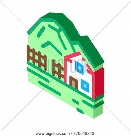 Highlands Village Icon Vector. Isometric Highlands Village Sign. Color Isolated Symbol Illustration