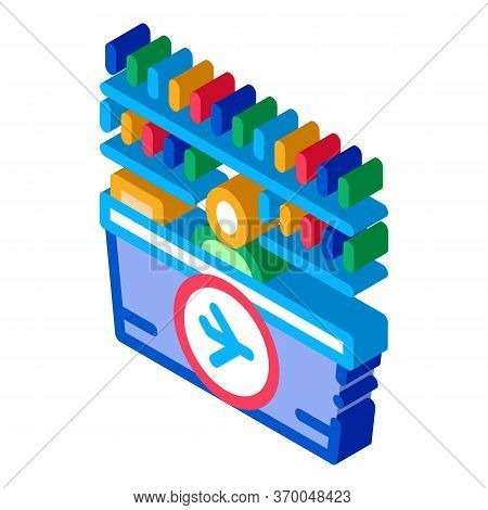 Appearance Of Duty Free Counter Icon Vector. Isometric Appearance Of Duty Free Counter Sign. Color I
