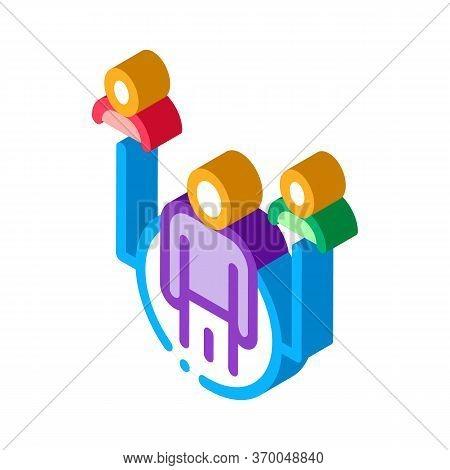 Realtor Representative Icon Vector. Isometric Realtor Representative Sign. Color Isolated Symbol Ill