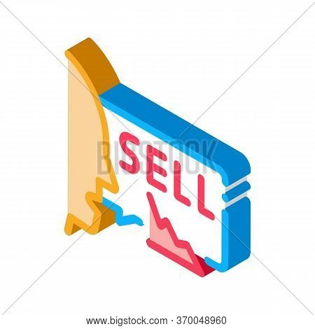 Person Seller Icon Vector. Isometric Person Seller Sign. Color Isolated Symbol Illustration