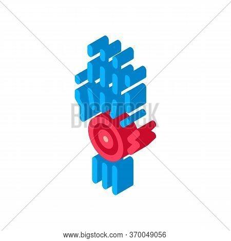 Arthritis Of Wrist Icon Vector. Isometric Arthritis Of Wrist Sign. Color Isolated Symbol Illustratio