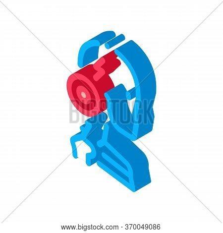 Cervical Vertebrae Arthritis Icon Vector. Isometric Cervical Vertebrae Arthritis Sign. Color Isolate