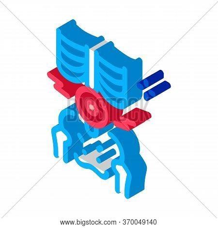 Back Lumbar Arthritis Icon Vector. Isometric Back Lumbar Arthritis Sign. Color Isolated Symbol Illus