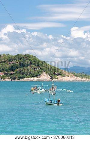 Fishing boat at tropical sea