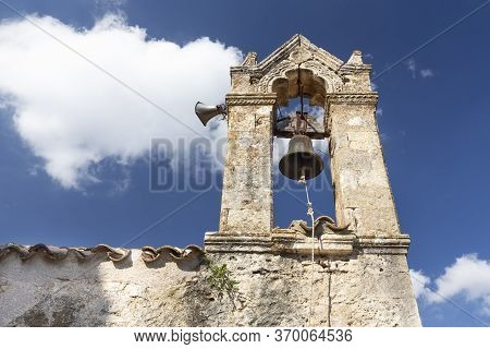 Traditional Church Steeple In Kapetaniana Village, Crete, Greece