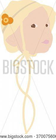 Baby Girl in Yellow Bonnet Illustration