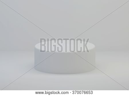 White Stand. Abstract White Background With Geometric Shape Podium For Product. White Stand, Minimal