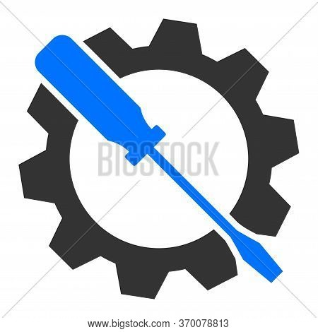 Wrench Tuning Vector Illustration. A Flat Illustration Iconic Design Of Wrench Tuning On A White Bac