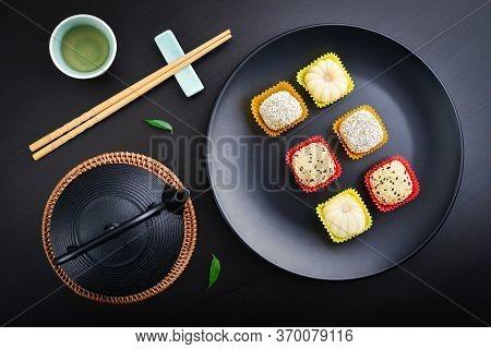 Mochi Assortment On Plate