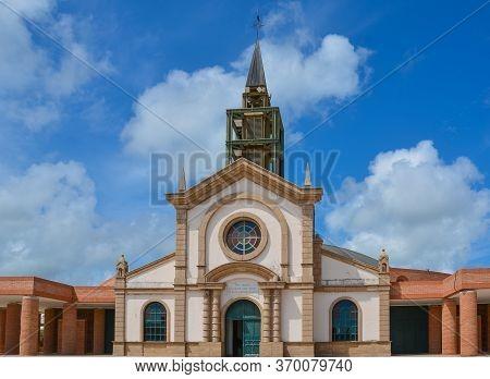 Le Francois, Martinique - September 18, 2018: Catholic Church Of Saint Michael, Eglise Catholique De