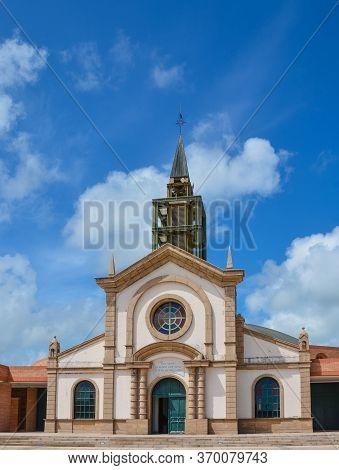 Le Francois, Martinique - September 18, 2018: Eglise Catholique De Saint-michel, Catholic Church Of