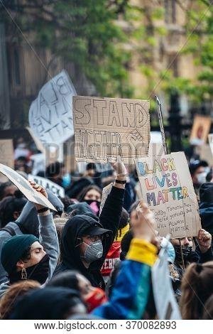 London / Uk - 06/06/2020: Black Lives Matter Protest During Lockdown Coronavirus Pandemic. Thousands