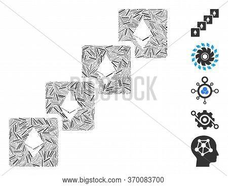 Dash Mosaic Based On Ethereum Blockchain Icon. Mosaic Vector Ethereum Blockchain Is Designed With Sc