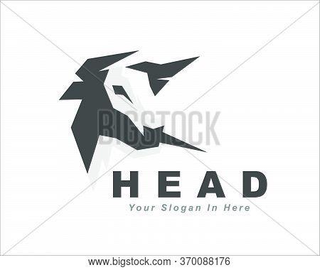 Head Bull Cow Ox Buffalo Head Rigid Draw Art Logo Design Illustration