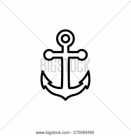 Anchor Boat Icon Flat Vector Template Design Trendy