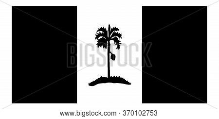 Flag Of Penang State Malaysia. Black And White Eps Vector File.