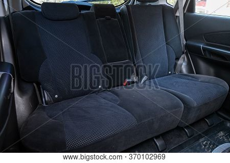 Novosibirsk/ Russia - May 12, 2020:  Hyundai Tucson,comfort Car Inside. Clean Car Interior: Black Ba