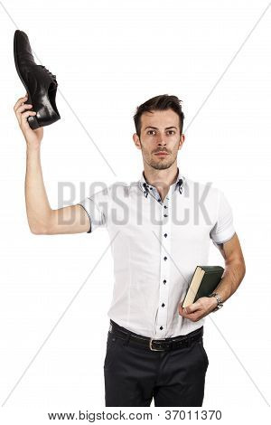 Man With One Shoe And A Book